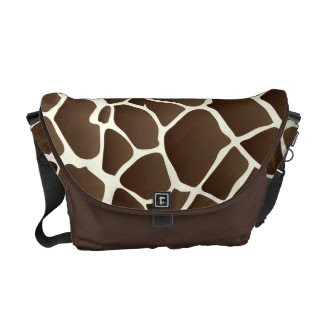 PixDezines giraffe/DIY background rickshawmessengerbag