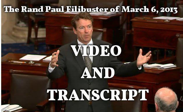 Rand Paul Filibusters the Nomination of John Brennan