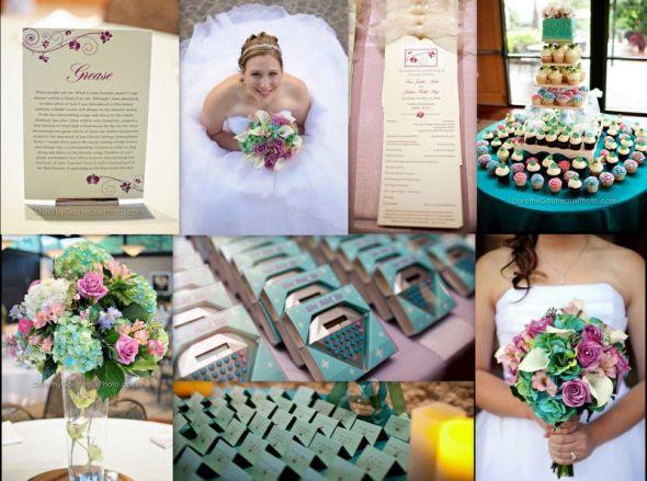 wedding colour scheme teal purple yellow green help