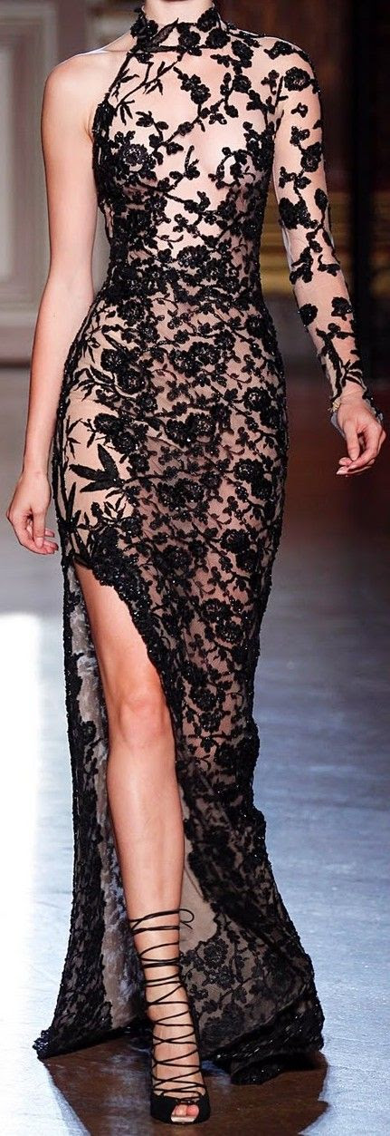 Dresses from  black lace