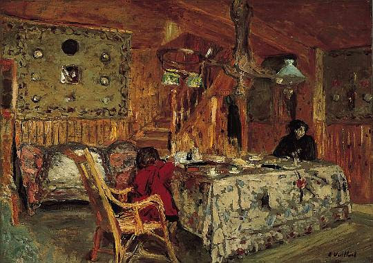Edouard Vuillard, Denise Natanson and Marcelle Aron in the Summer House at Villerville, Normandy 1910