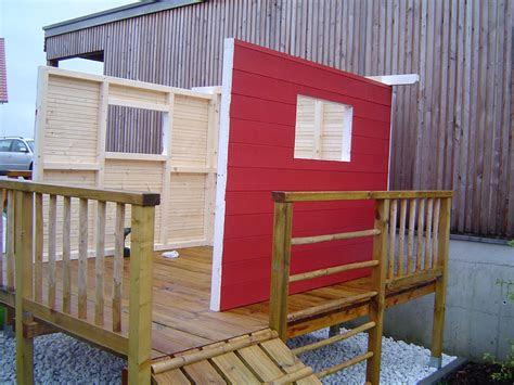 spielhaus mit terrasse spielhaus sun holz naturrot