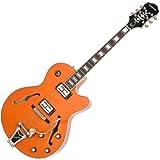 Epiphone ETS2ORCB1 Emperor Swingster Semi-Hollow-Body Electric Guitar, Sunrise Orange