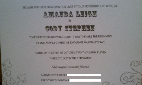Wedding invitation and response card wording wedding InvitationWedding
