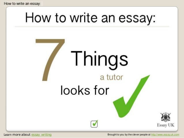 things to write an essay about england