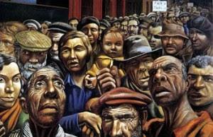 Manifestación del pintor Antonio Berni