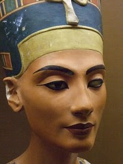 Replica of the bust of Queen Nefertiti 18th Dy...