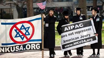USA Israel Demonstration gegen AIPAC in Washington