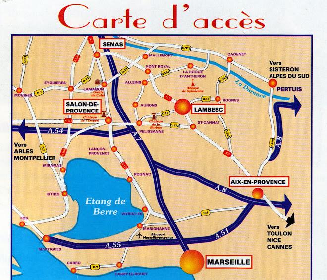 Itinéraire: Cliquez sur l'image (google maps).
