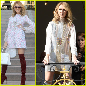 Celine Dion Glams Up For a Fashion Week Photo Shoot in Paris!