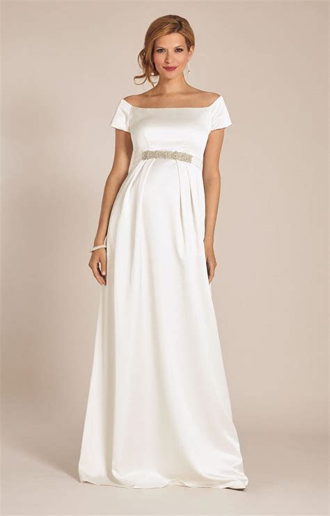 Aria Maternity Wedding Gown Ivory   Maternity Wedding