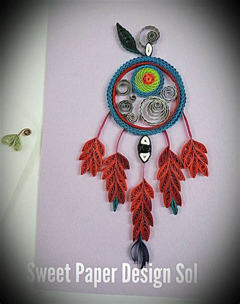 Paper Quillied beautiful Dream Catcher . Paper Quilling