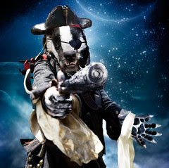 Archibald the space-pirate badger, from Doctor Who and the Pirate Loop, as imagined by Lee Binding