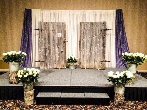 Rustic Wedding Ceremony #lethbridgeeventrentals #