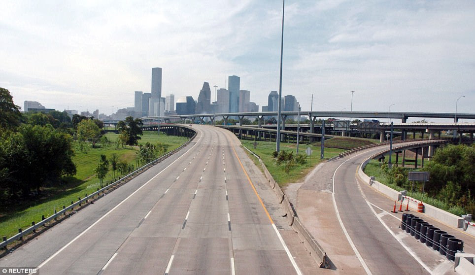 Interstate 45 Highway in Houston in 2005
