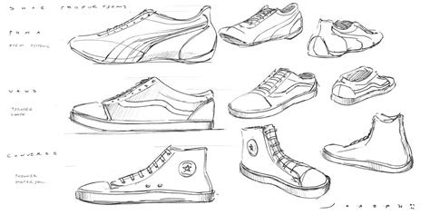 draw  design shoes  thought