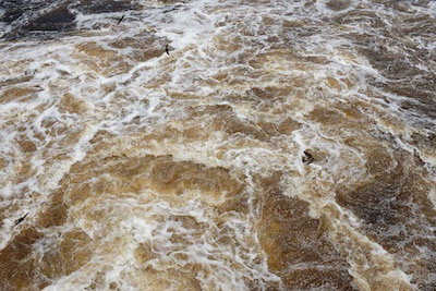 Our rivers are high.  This is the outflow over the dam just outside Elk River.
