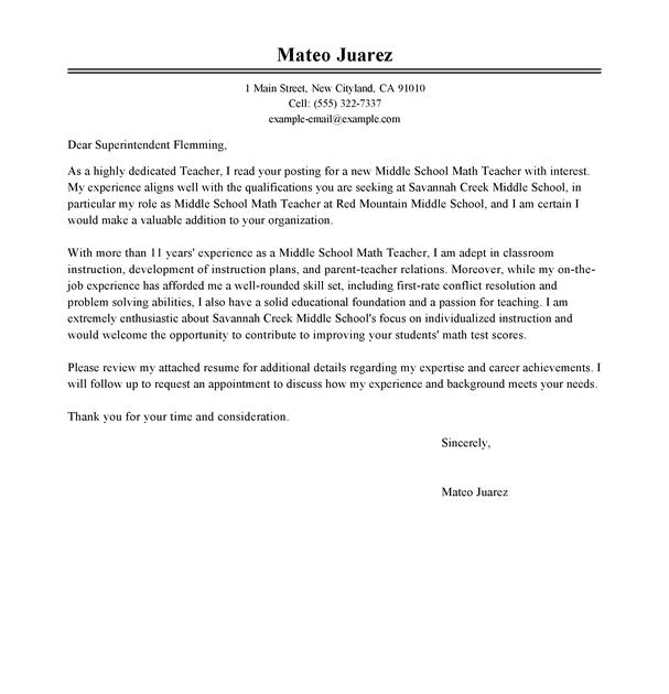 Resume For You Example Of Resume Letter For Teacher