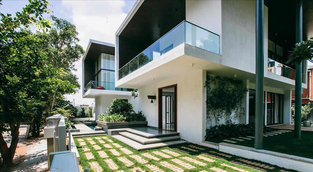Courtyard House, Bangalore Abin Design Studio - Home Design Bangalore AmericanModerateParty.org