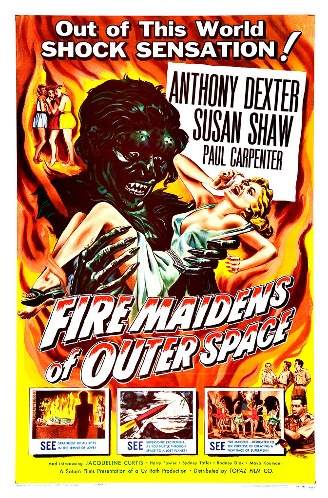 Albert Kallis - Fire Maidens of Outer Space (Topaz, 1956) One Sheet