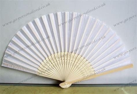 Beautiful white wedding silk fan wholesale free postage