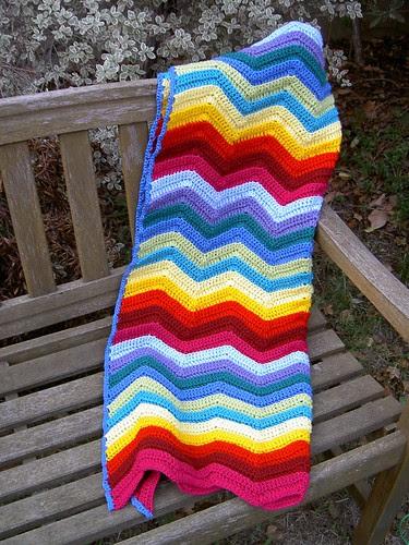 Ripple blanket - finished!