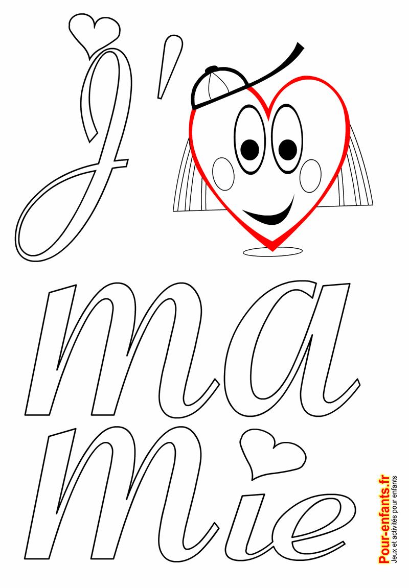 Fête Des Mamies Grands Mères Coloriage Jaime Mamie à Imprimer Amour