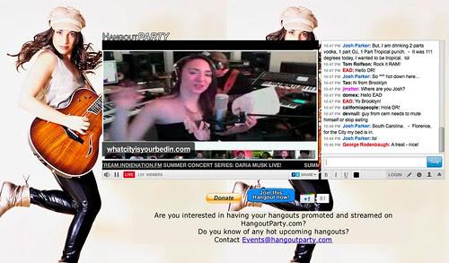 Daria Musk Live Streaming Google+ Hangout on Livestream by stevegarfield