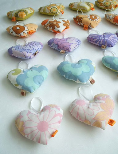 lots of lavender hearts