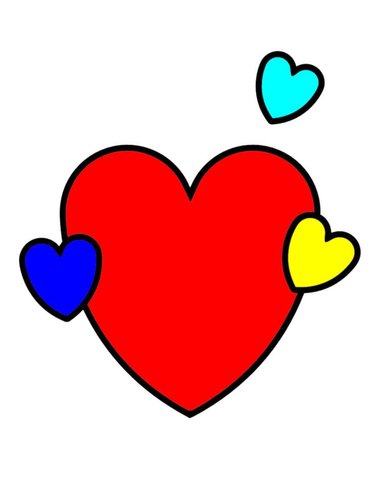 Disegno colorato cuore migliori pagine da colorare e for Disegni da colorare dei cuori