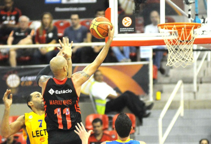 Flamengo X Maccabi, copa intercontinental de Basquete (Foto: André Durão)