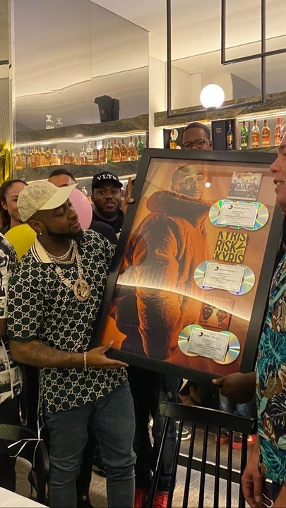 Davido Hits it back to back Platinum in USA... Read details