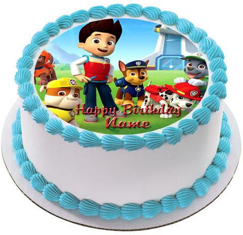 Paw Patrol 2 Edible Birthday Cake Or Cupcake Topper Edible Prints