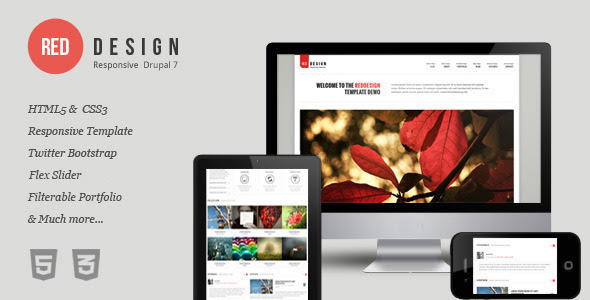 RedDesign - Responsive Drupal 7 Theme - Drupal CMS Themes