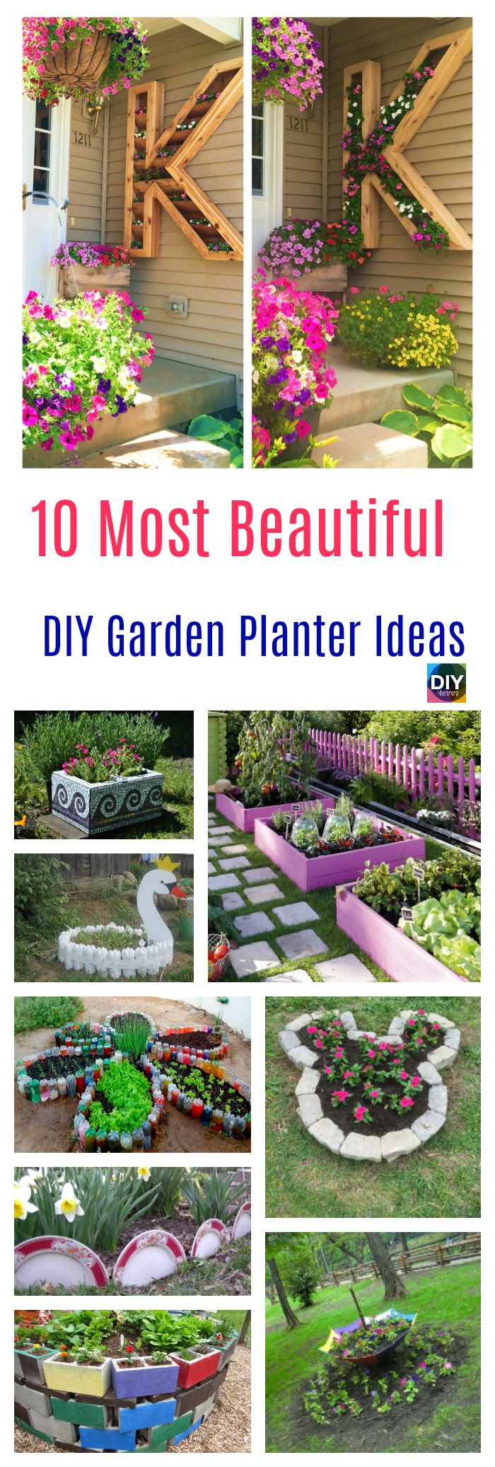 28 Most Beautiful DIY Garden Planter Ideas - DIY 28 EVER