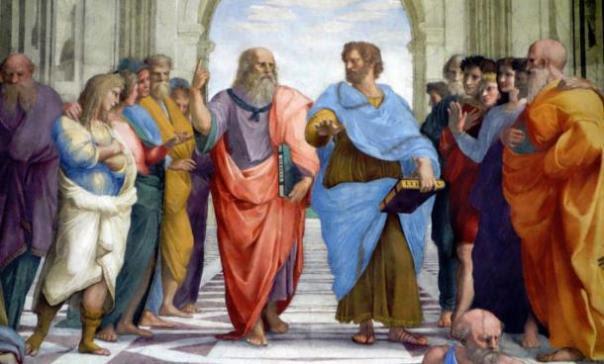 Rafael, Escuela de Atenas, fresco, 1509-1511 (Stanza della Signatura, Palacio Papal, Vaticano)