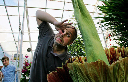 Me and a corpse flower