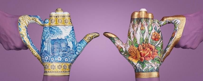 manos pintadas con Guido Daniele