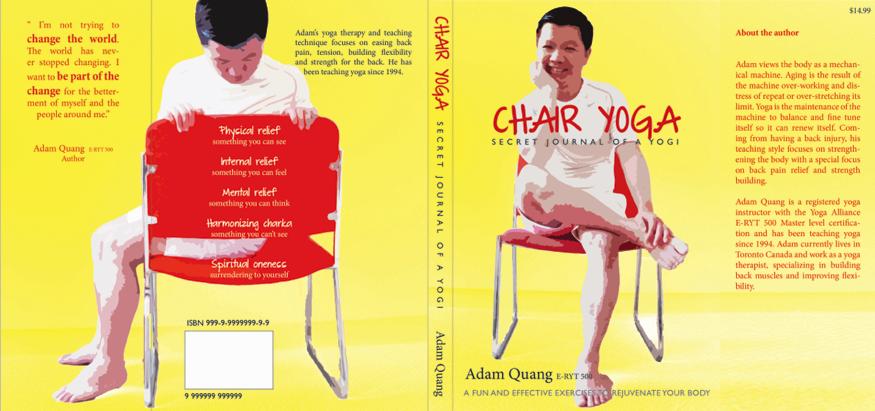 Book Cover Design Chair Yoga