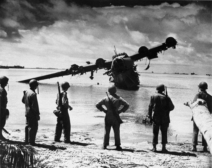 by Jonathan Mitchell. Kawanishi H8K2 Emily, King's Wharf, Gilbert Islands. 1943