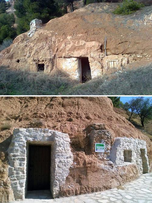Comparación casas - cueva Gascueña