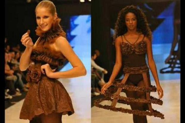 Modelos vão desfilar com roupas de chocolate na Chocofest 2013 Chocofest 2013/Divulgação