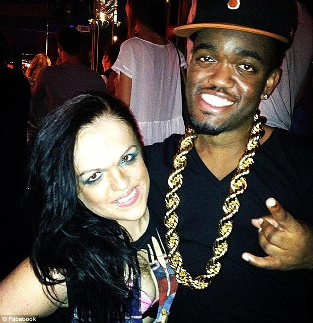Kim Tripp, 32, (left) was found dead outside her Las Vegas apartment by her boyfriend 'mini Kanye West' (right)