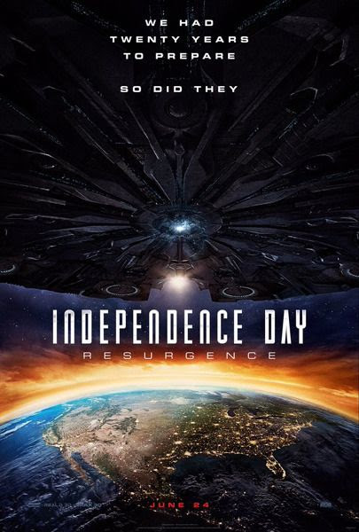 The theatrical teaser poster for INDEPENDENCE DAY: RESURGENCE.