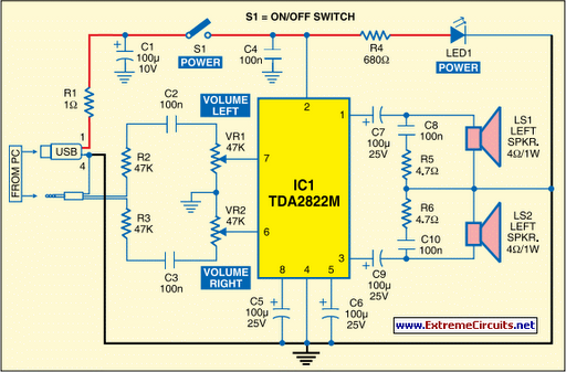 Free Wiring Diagram  Usb Audio Amplifier Circuit Diagram