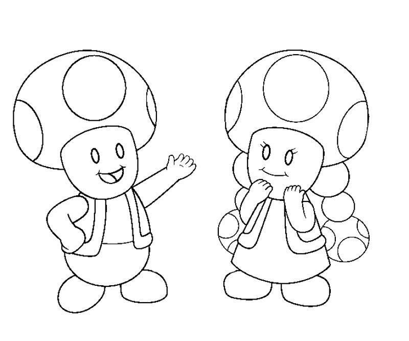 Awesome Super Mario Toadette Coloring Pages Anyoneforanyateam