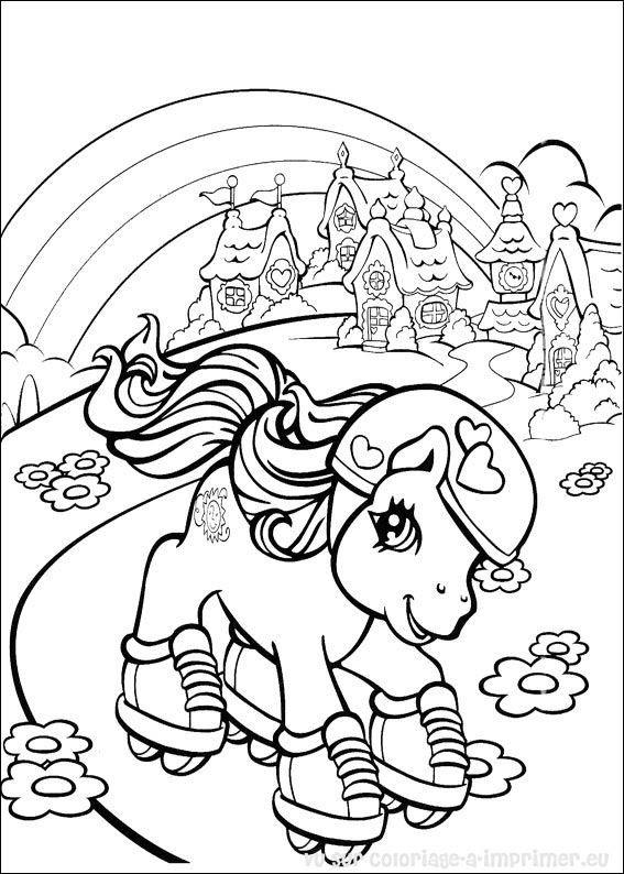 Coloriage204 Coloriage à Imprimer Poney