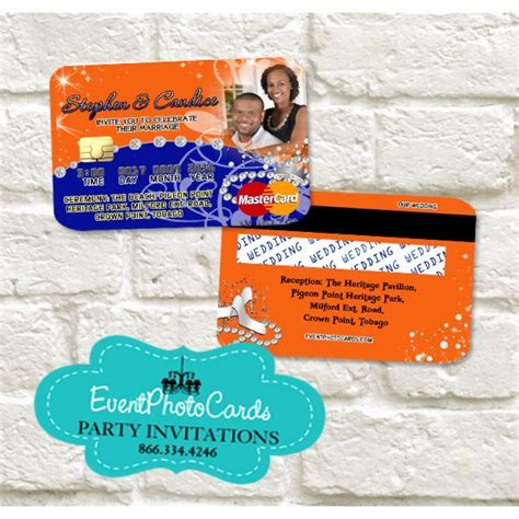 Latest Princess Wedding   Credit Card Orange and Blue