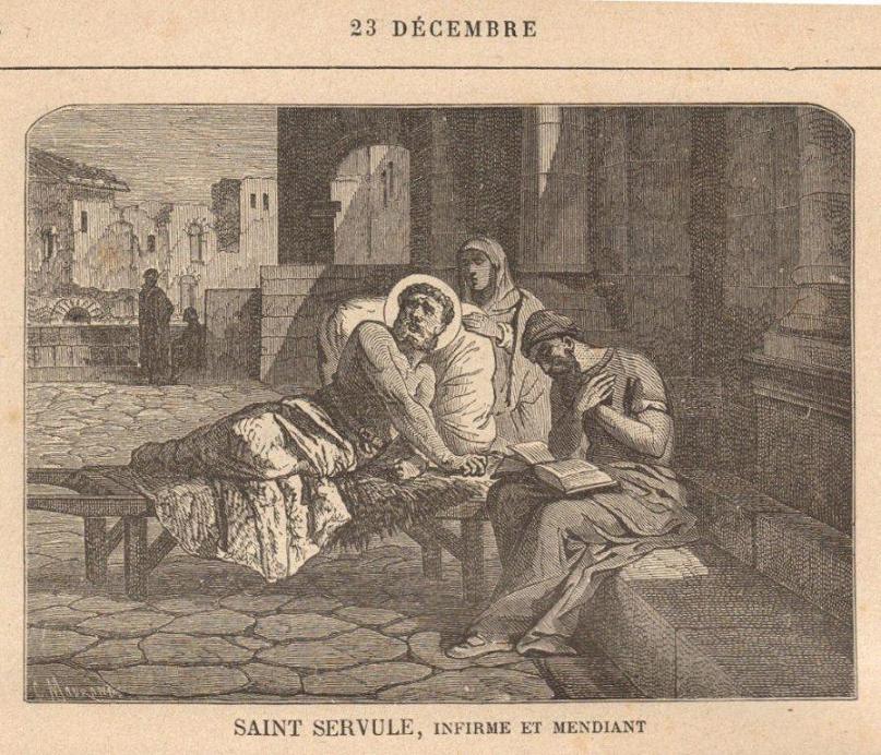 Saint Servule, infirme et mendiant († 570)