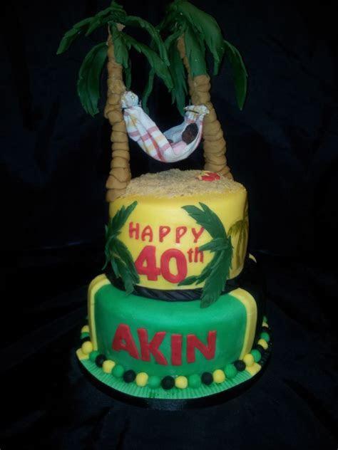 40th Birthday Cake, Jamaican Themed.   Micalah's Jamaican
